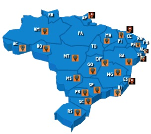 mapa dos prospects da is2 por estado